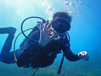 Scuba Diving: Discover Scuba Diving  from Caldera Beach in Santorini