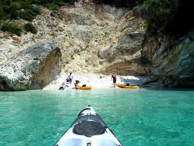 Sea Kayaking: Sea Kayaking Excursion to Papanikolis Cave, from Mikros Gialos, Lefkada