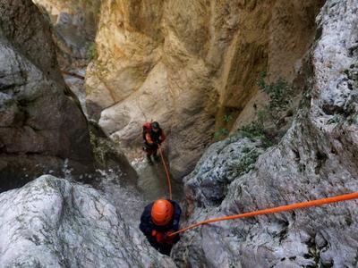 Canyoning: Canyoning at Aspropyrgos Gorge near Athens