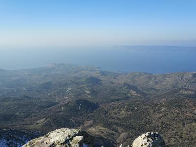 4x4: 4x4 Safari in Lepetymnos Mountain, Feeding the Wild Horses, in Lesbos