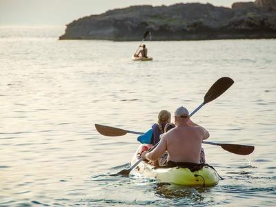 Sea kayaking tour at Kalathas Beach near Chania