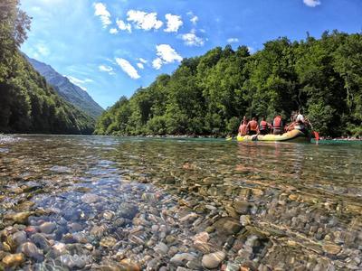 Rafting trip down the Tara River in Foca