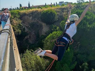 Bungee jumping in Sant Sadurní d'Anoia near Barcelona