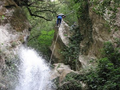 Canyoning at Castiglione Gorge in Pollino National Park