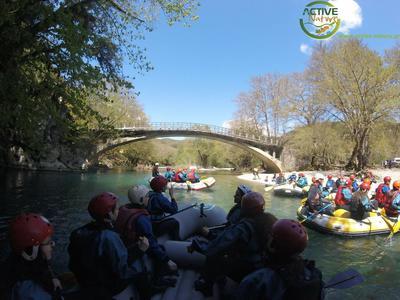 Rafting in Arachthos river in Tzoumerka, near Ioannina
