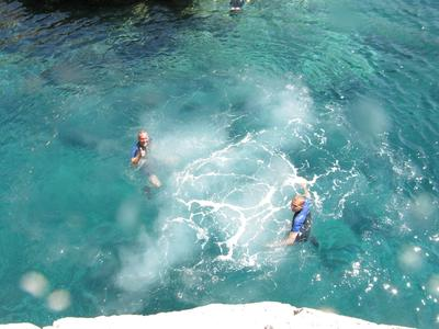 Snorkeling: Cliff diving boat excursions in Nea Makri, Athens