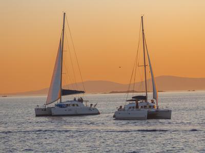 Sailing: Delos & Rhenia Catamaran Full Day Cruises from Mykonos