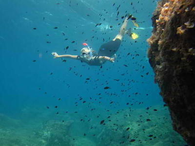 Snorkeling: Snorkeling excursion from Santa Barbara beach in Corfu