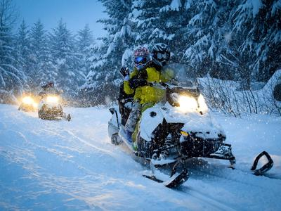 Guided snowmobile excursion in Chamrousse, near Grenoble