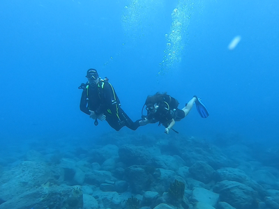 First scuba dive in Guadeloupe