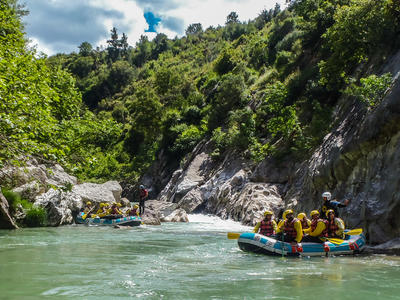 Rafting: Rafting excursion down the Lousios river