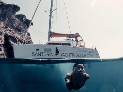 Sailing: Semi-private Catamaran Beautiful Day Cruise from Ammoudi Bay in Oia
