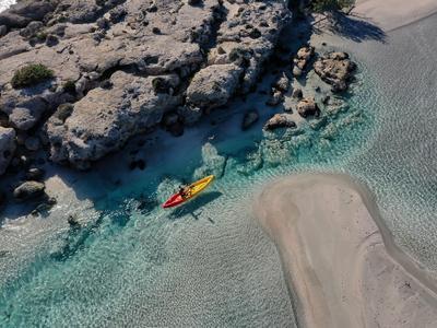 Sea Kayaking tour at the Pink Lagoon from Elafonisi