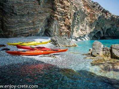 Sea Kayaking: Sea kayak excursion from Loutro Beach near Sfakia