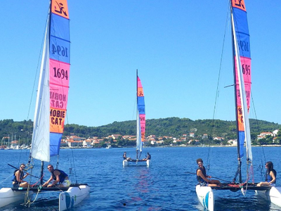 Catamaran Lessons in Korčula near of Lumbarda, Croatia