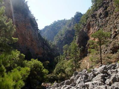 Hiking tour at the Agia Irini Gorge next to Sougia starting from Kissamos