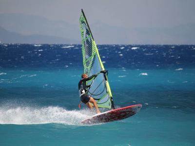 Windsurfing: Windsurfing lessons from Psalidi Beach, Kos
