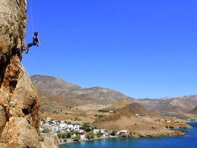 Rock climbing: Rock Climbing Session near Lentas in Southern Crete