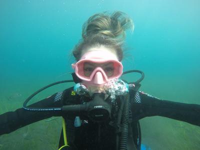 Scuba Diving: Try scuba diving in the caldera of Santorini