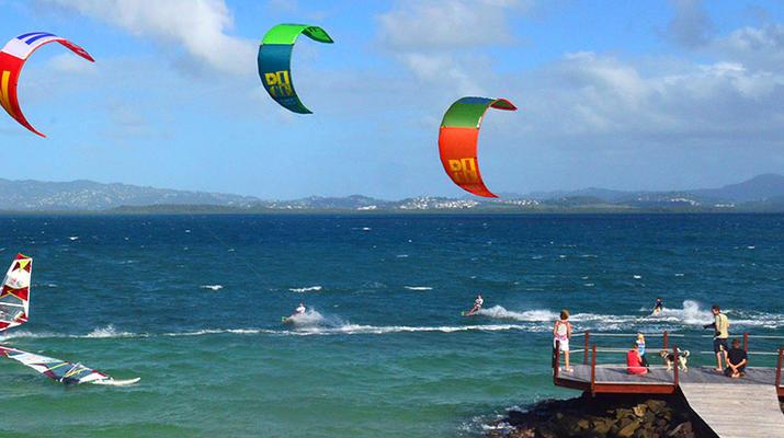 Kitesurf-Les Trois-Îlets-Cours de Kitesurf à la Pointe du Bout, Martinique-1