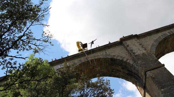 Saut à l'élastique-Montpellier-Saut à l'élastique du Viaduc de Boussagues (50m) près de Montpellier-2