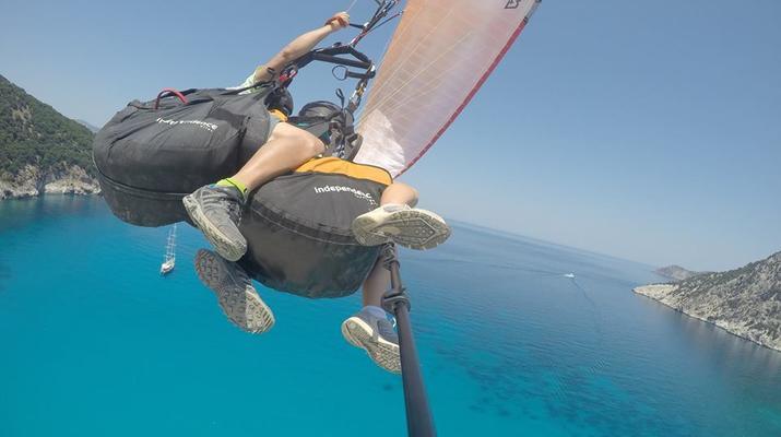 Paragliding-Kefalonia-Tandem Paragliding Flight over Myrtos Beach, Kefalonia-5