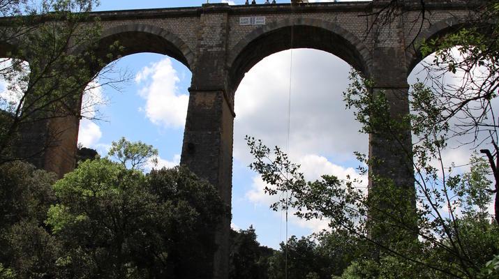Saut à l'élastique-Montpellier-Saut à l'élastique du Viaduc de Boussagues (50m) près de Montpellier-4