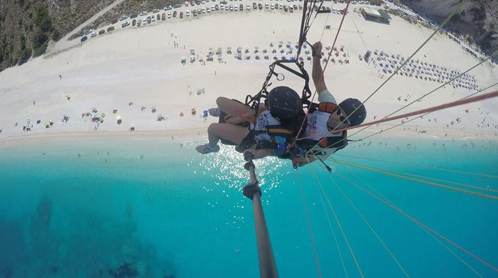 Paragliding-Kefalonia-Tandem Paragliding Flight over Myrtos Beach, Kefalonia-4