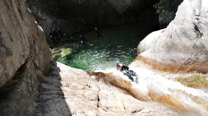 Canyoning-Bavella-Canyon of Purcaraccia in Bavella, Corsica-5