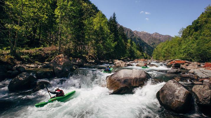 Canoë-kayak-Alagna Valsesia-2 jours de descente de la rivière Sesia à Alagna Valsesia-3