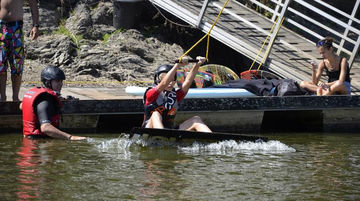 Wakeboard-La Roche-sur-Yon-Session Wakeboard sur Cable 2.0 (bi poulies) sur le Lac d'Apremont, Vendée-3