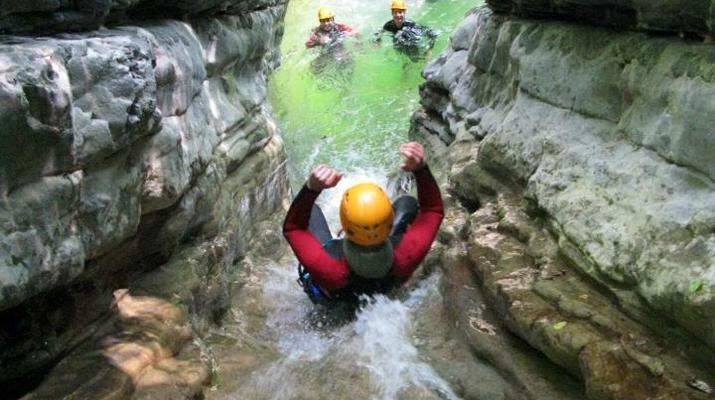 Canyoning-Arco-Canyon River Palvico near Arco, Lake Garda-3