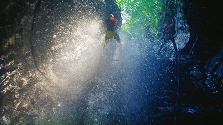 Canyoning-Arco-Canyon River Palvico near Arco, Lake Garda-1