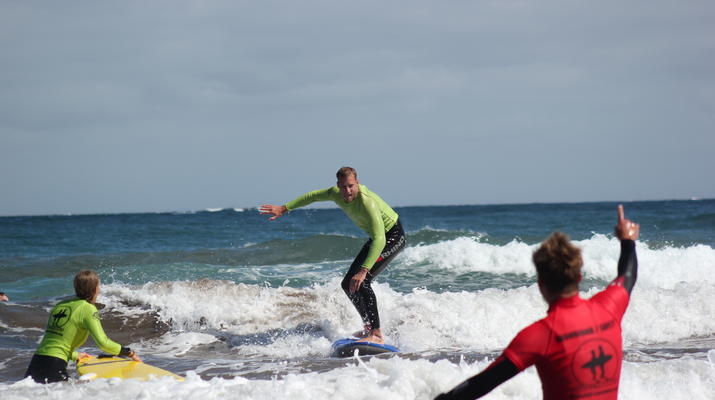 Surfing-Maspalomas, Gran Canaria-Surfing lessons in Playa del Ingles, near Maspalomas-4