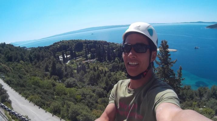 Rock climbing-Split-Rock climbing on Marjan Hill right outside of Split-1
