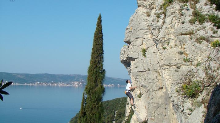 Rock climbing-Split-Rock climbing on Marjan Hill right outside of Split-3