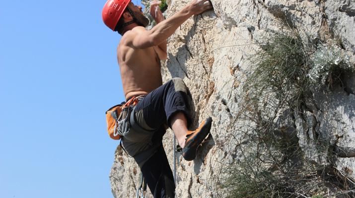 Rock climbing-Split-Rock climbing on Marjan Hill right outside of Split-6