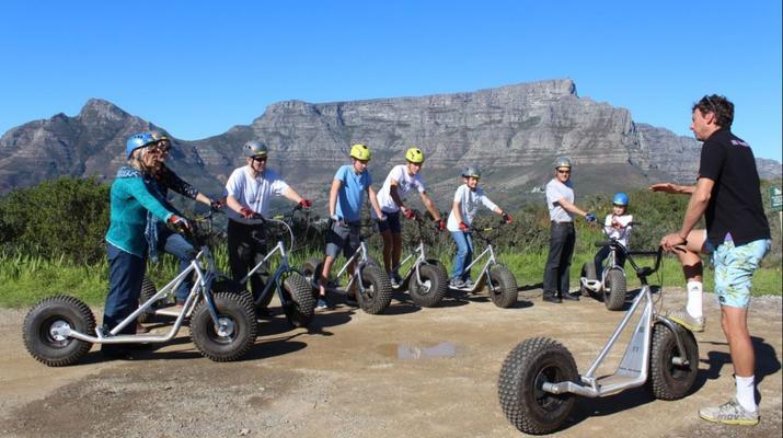 Trottinette-Le Cap-Pistes de descente en scooter sur Table Mountain-3