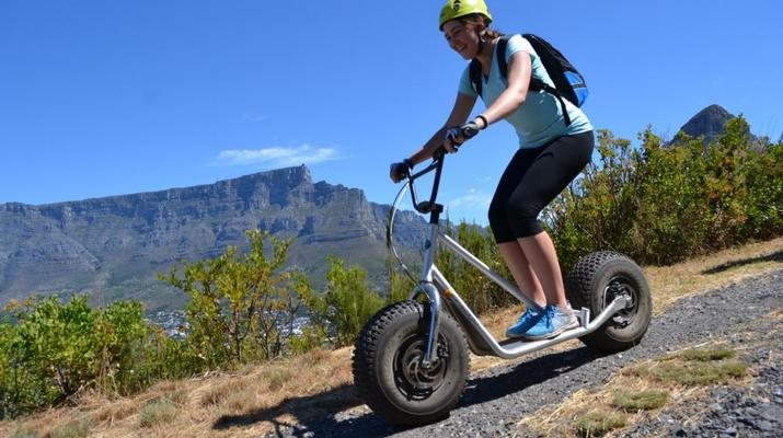 Trottinette-Le Cap-Pistes de descente en scooter sur Table Mountain-2