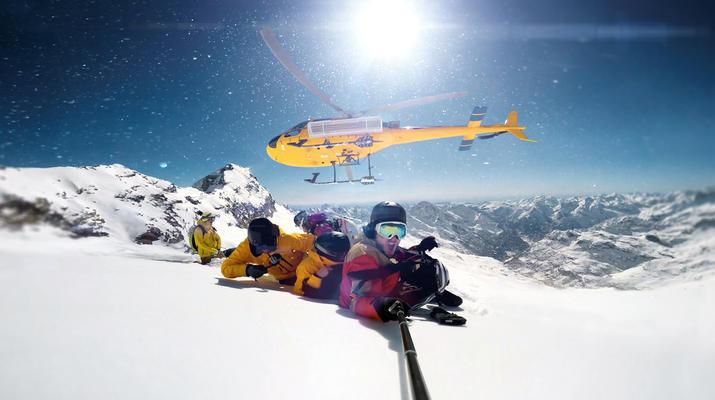 Heliski-Zermatt-Journée d'héliski sur le glacier de Zermatt depuis Gressoney-2