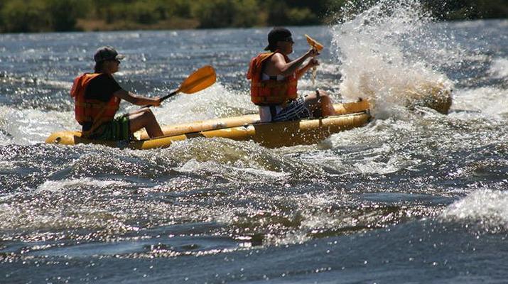 Kayaking-Livingstone-Canoe safari on the Upper Zambezi River near Livingstone-2