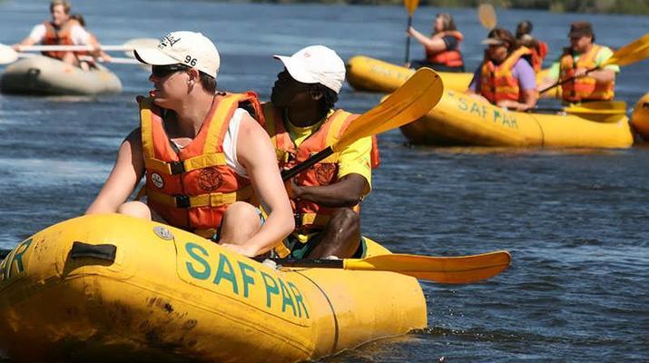 Kayaking-Livingstone-Canoe safari on the Upper Zambezi River near Livingstone-1