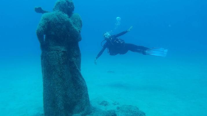 Scuba Diving-Puerto del Carmen, Lanzarote-First dive in the Underwater Museum of Lanzarote-2