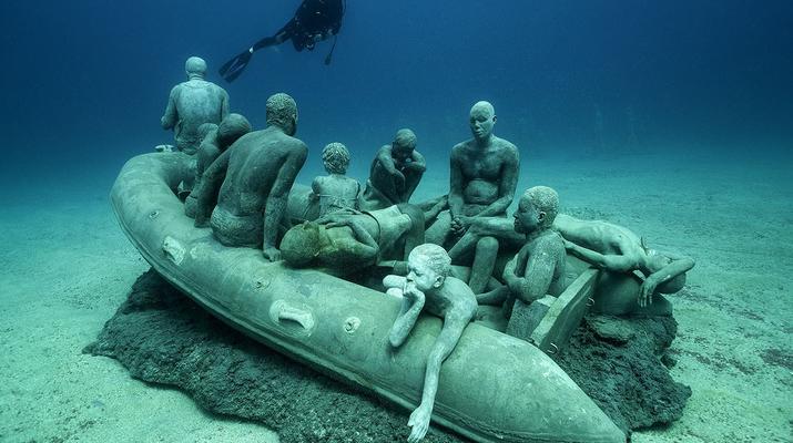 Scuba Diving-Puerto del Carmen, Lanzarote-First dive in the Underwater Museum of Lanzarote-1