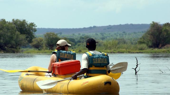 Kayaking-Livingstone-Canoe safari on the Upper Zambezi River near Livingstone-5