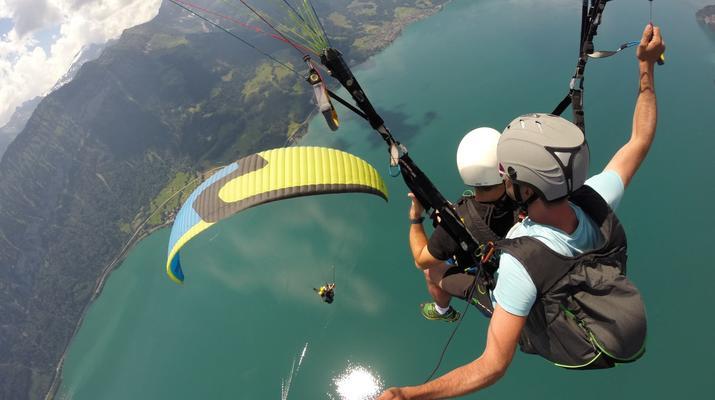 Paragliding-Interlaken-Tandem paragliding flight above Interlaken-1