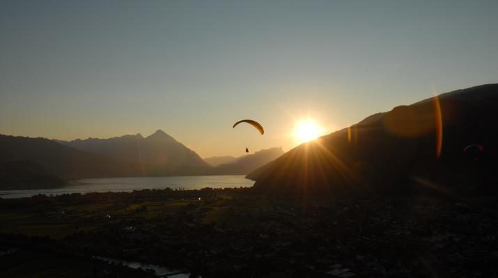 Paragliding-Interlaken-Tandem paragliding flight above Interlaken-3