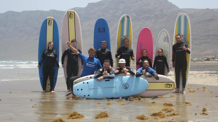 Surfing-Caleta de Famara, Lanzarote-Surf lessons in Caleta de Famara, Lanzarote-2