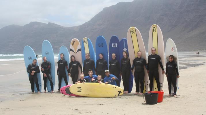 Surfing-Caleta de Famara, Lanzarote-Surf lessons in Caleta de Famara, Lanzarote-8