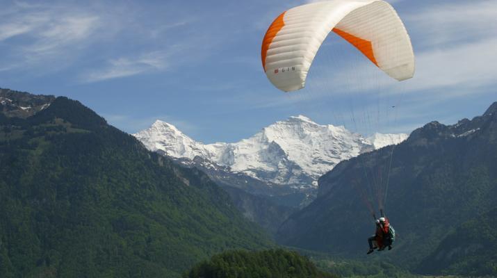 Paragliding-Interlaken-Tandem paragliding flight above Interlaken-2